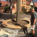 Renovierung der Sandsteinbank 4