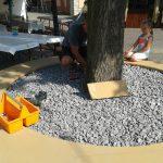 Renovierung der Sandsteinbank 8